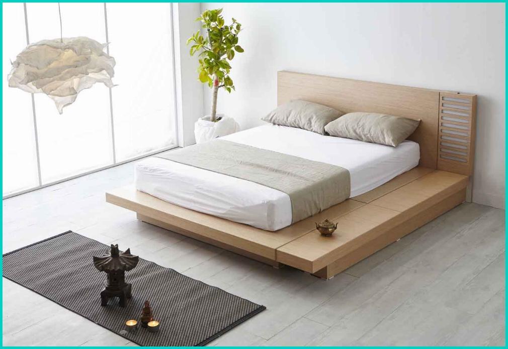 letto in legno stile zen